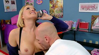 Krissy lynn jerking a big cock while talking with somebody