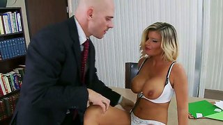 Hot Pornstar Kristal Summers Gets Horny In The Office And Gives A Chance To Johnny Sins To Screw Her