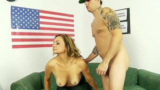 Rebecca Bardoux Is Making Blowjob For A Mark