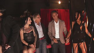 Busty Brunette Temptress Fucks In The Night Club In Private Room