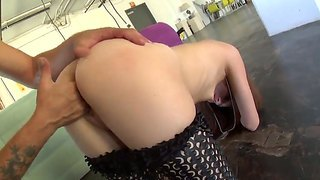 Redhead Slut Lolita Haize Gets Roughed Up By Mr. Pete And Forced Blow His Massive Rod