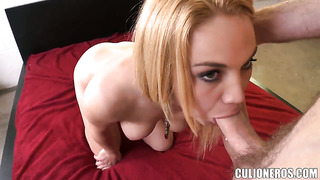 Courtney shea is horny as hell and sucks dudes rock solid meat stick with wild passion