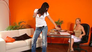 Sandra Sanchez Gets Nude On The Casting Couch