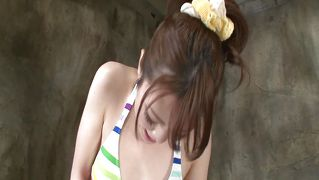 Lovely Japanese Cute Woman Pleasing Herself