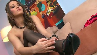 Dani Daniels In Hot Sexy Black Stockings And Hotly Exciting Panties Demonstrating Perfect Tight Body With Juicy Fresh Boobs And Dildo Fuck Action!