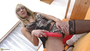 Mature Blonde Shows That She Still Has It