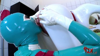 Clinic of sexual satisfactions for two nasty bitches in tight latex