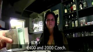 Euro Sluts Sucks And Fucks Cock For Cash In The Bar
