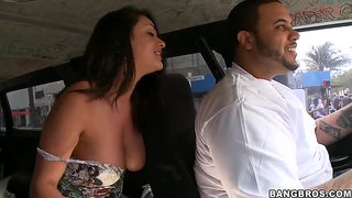Big Breasted Brunette Charley Chase And The Bang Bus