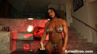 Aziani iron amber deluca riding sybian sex toy