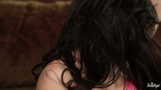 The level of entertainment is rising for this hot brunette as she gets naked