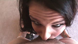 Brunette With Amazing Tattoos Gets A Huge Dick Into Her Sweet And Nasty Holes