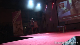 Three Stunning Babes Stripping And Dancing
