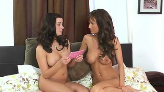 Gorgeous Naked Babes Asking Questions In This Interview