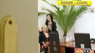 Office Threesome Spy Cam Video