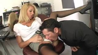 Cougar boss orders her employee to fuck
