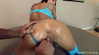 Wild Penetrated Deep Asshole Of Beautiful Pornstar.