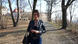 Gorgeous Brunette Katarina Loving To Do It Outdoors For Public Pleasure
