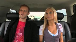 Blonde Pornstar Amy Reid In A Car With A Lucky Fellow