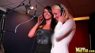 Aydreanna And Molly Cavalli Recording A Song