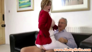 Young British Jockey Fucking Old Sirs Cock