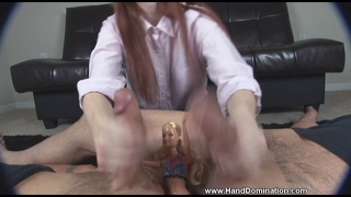 Small Penis Humiliation By Cruel Redhead