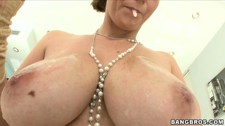 Her tits are the real star of this hardcore pov blowjob video