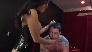 Latex Whore Asa Akira Tortures And Humiliates Her Male Slave Jack Vegas!