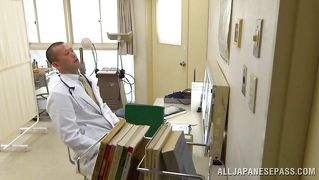 Japanese Nurse Sucks On The Doctor's Cock