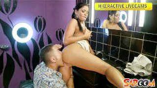 Busty Pornstar Angelica Heart Gets Fucked In A Club Toilet