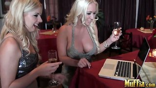 Lexi Belle And Molly Cavalli Drinking And Chatting