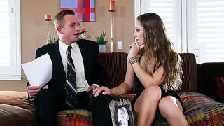 Cheating Business Lady Dani Daniels Gagging Deep