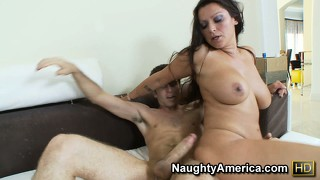 Nikita denise lays back so he can fuck her and cum deep in her pussy