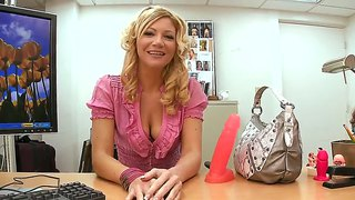 Blonde Milf With Natural Tits Christina Skye Strips And Masturbates At The Audition