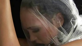 Sexy bride gets bondaged and fucked