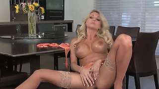 Awesome Blonde Milf Plays With Her Enchanted Hole