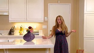Madismadison Chandler Prefers To Masturbate In The Kitchen