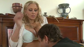 Busty Blonde Milf Julia Ann Enjoys Fucking With Hunk Mr. Pete In Wild Session