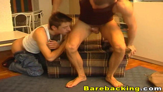 Gay Bareback Sex With Cumshot