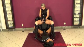 Rubber mistress and slave