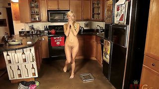 Skinny babe aaliyah love is posing in the kitchen