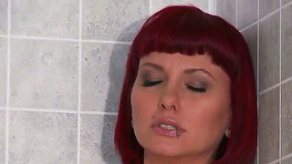 Redhead Babe Carrie Ann Is A Super Hot Milf Who Gets A Big Cock In Her Holes