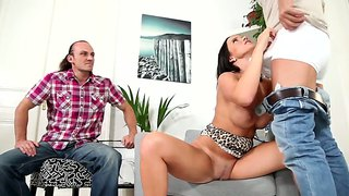 Hot Cindy Dollar Gets Nailed In Front Of Husband