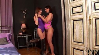 Adorable Lesbians Eve Angel And Jasmine Rouge Are Enjoying Themselves In Naughty Softcore