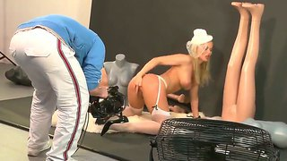 Silvia saint dresses up in a white lingerie and gives amazingly hot private cam show