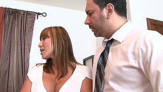 The Prepossessing Busty Pornstar Ava Devine Sucks A Cock To The Julius Ceazher And His Friend