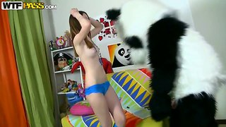 Teen Hottie Nicki Is Fucking A Huge Panda Dick