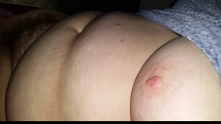 After A Rough Night I Playn With My Bbw Wifes Hairy Pussy,