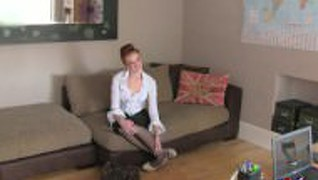 Fakeagentuk Slim British Amateur Redhead Gets Fucked On Film By Con Artist