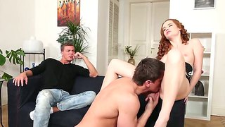 Redhead Denisa Heaven Enjoys Two Studs And Gives Them Pleasure